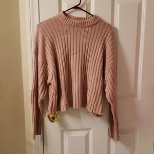 AE slightly cropped ribbed sweater